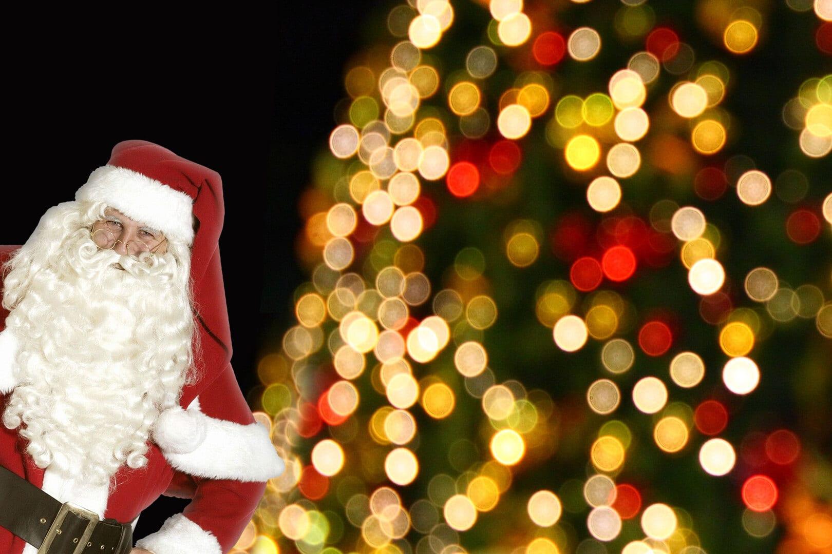 Black Friday med julemand, juletræstænding og godter til børnene